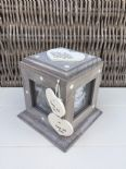 Shabby Chic Rustic Wood Style Personalised Nanny Nana Gran Gift Photo Cube Box